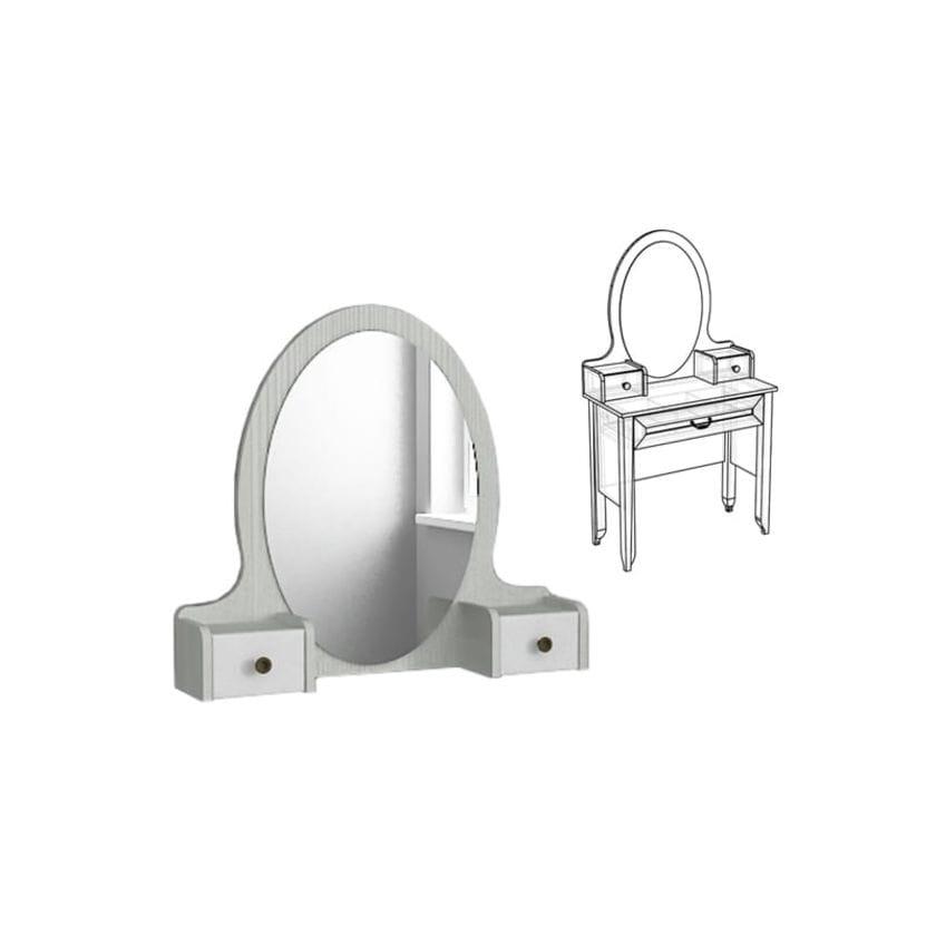 Зеркало Классика с надстройкой к туалетному столу